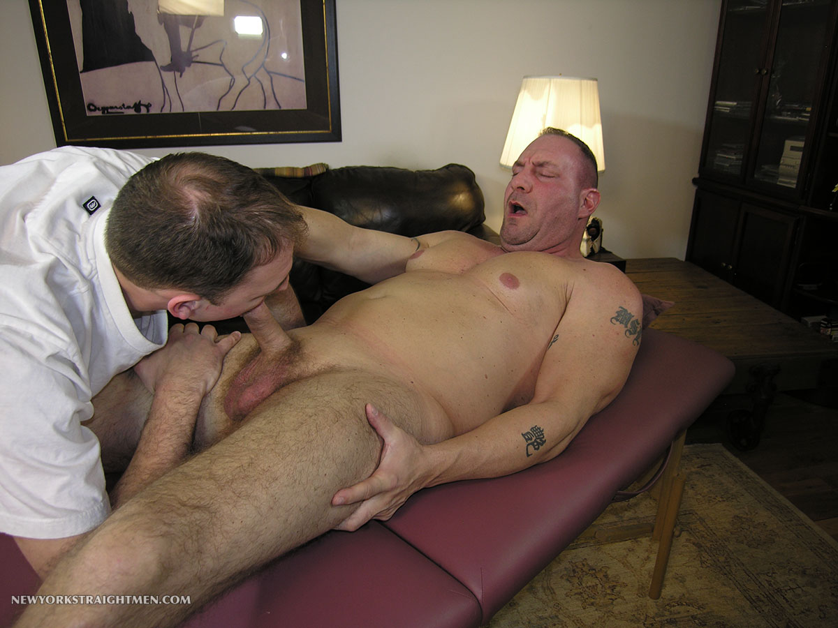 big muscle daddy gay blowjob
