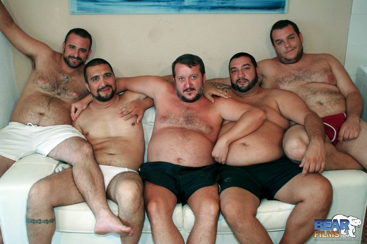 BearFilms Bear Spanish Chubby Bear Orgy and Bukkake Amateur Gay Porn 6 Amateur Spanish Chubby Bear Orgy and Bukkake!