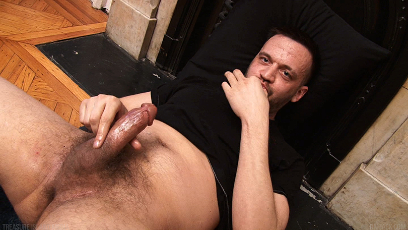 Treasure-Island-Media-TIMJack-Hunter-James-Beefy-Jerk-Off-Cum-Eating-Gay-Porn-8 Amateur Beefy Guy Jerks His Thick Cock and Eats His Hot Cum