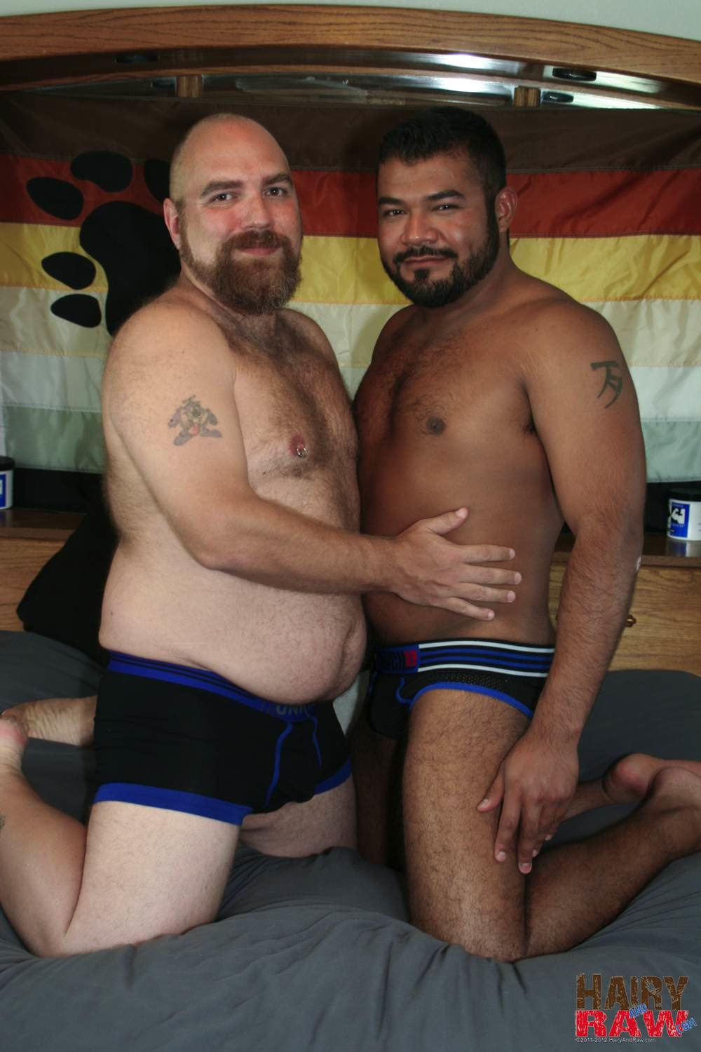 Hairy-and-Raw-DJ-Russo-and-Rico-Vega-Chubby-Bears-Barebacking-Amateur-Gay-Porn-01 Amateur Interracial Chubby Bears Barebacking Sex Pigs