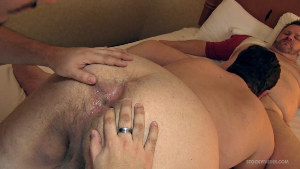 Stocky Dudes Marco Noah and Mitch Chubby Guys Barebacking Amateur Gay Porn 14 Amateur Chubby Top Barebacks Two Chubby Bottoms