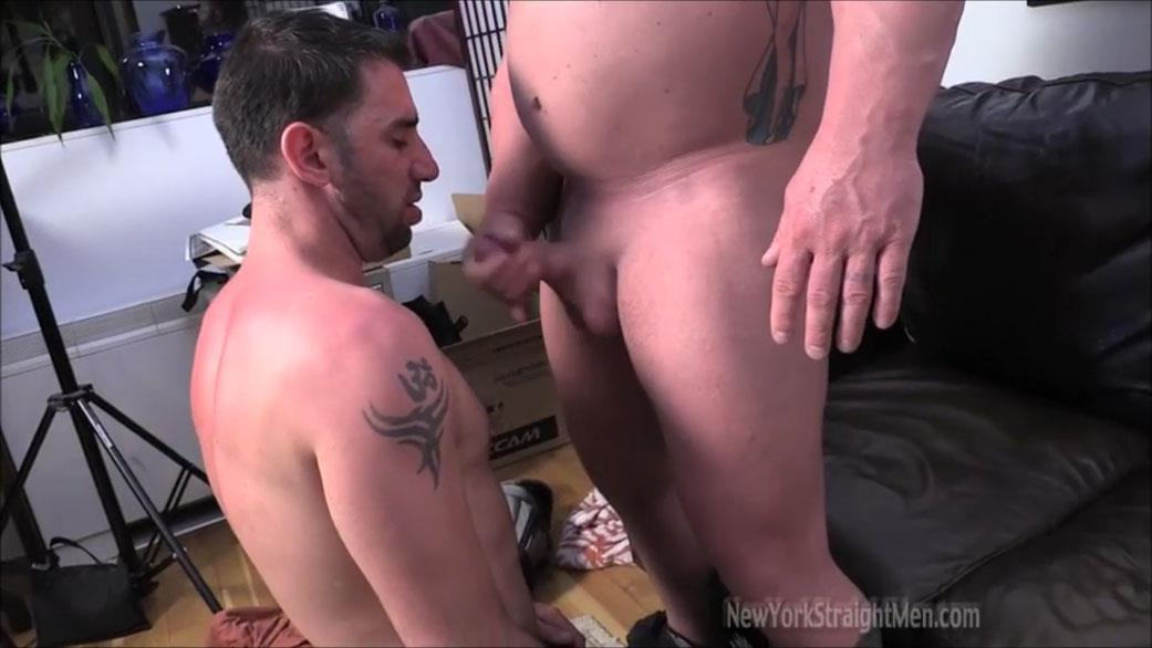 Straight hung chub blowjob 6