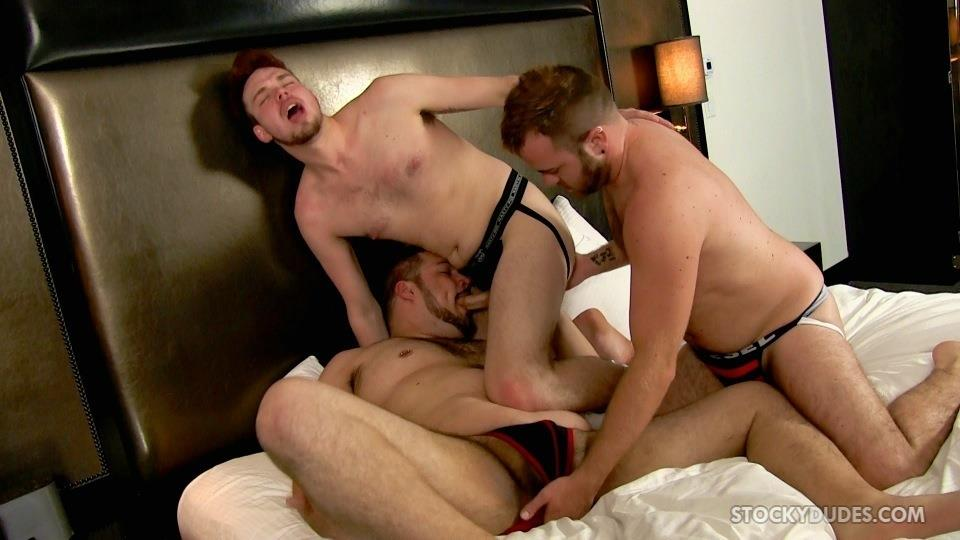 Stocky Dudes Brock Fulton and Craig Cruz and Zeke Johnson Chub Cub and Chaser Barebacking Amateur Gay Porn 07 A Chub, A Cub and A Chaser Bareback At A Hotel Orgy