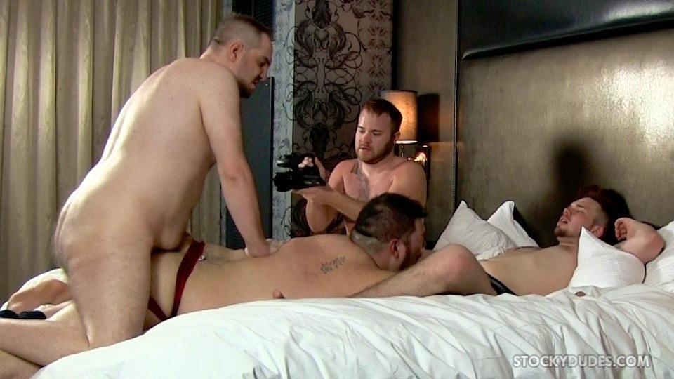 hotel orgy fucking - Stocky-Dudes-Brock-Fulton-and-Craig-Cruz-and-