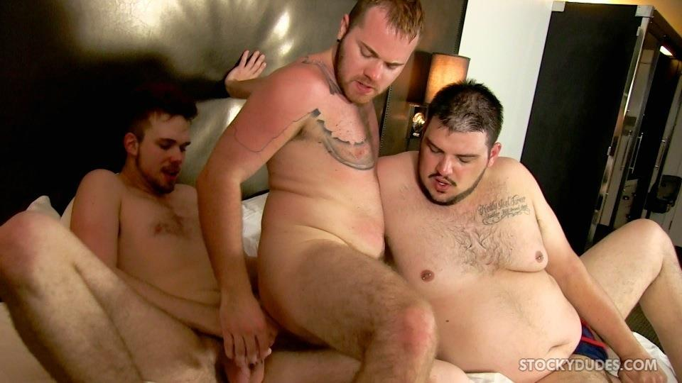 Stocky Dudes Brock Fulton and Craig Cruz and Zeke Johnson Chub Cub and Chaser Barebacking Amateur Gay Porn 21 A Chub, A Cub and A Chaser Bareback At A Hotel Orgy