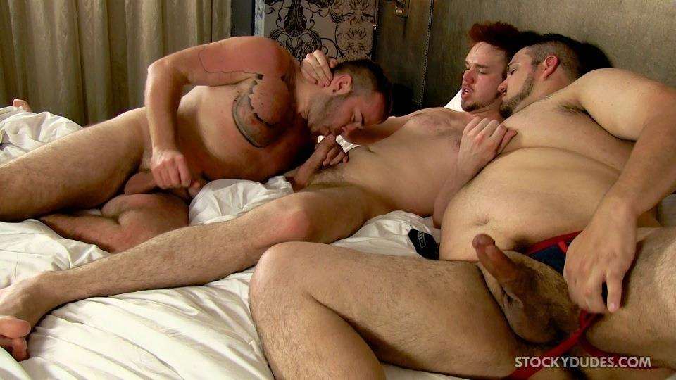 Stocky Dudes Brock Fulton and Craig Cruz and Zeke Johnson Chub Cub and Chaser Barebacking Amateur Gay Porn 22 A Chub, A Cub and A Chaser Bareback At A Hotel Orgy
