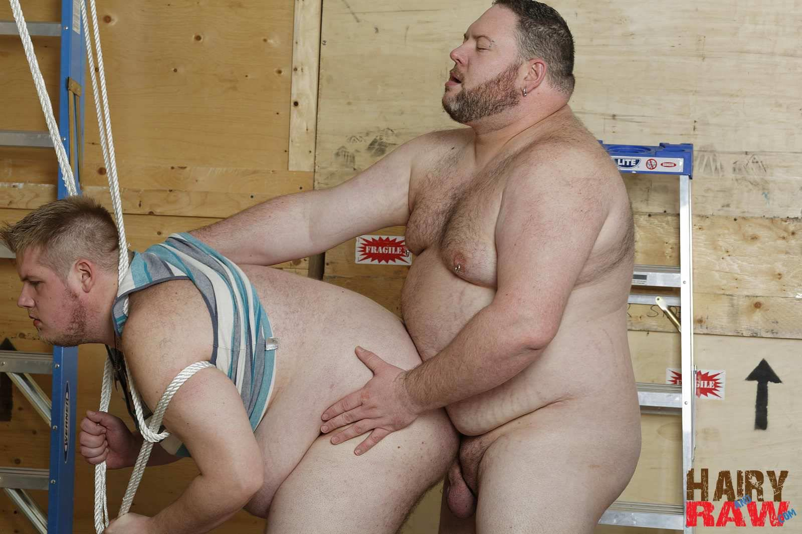 fat chub porn - Super Chubs Fucking Bareback At The Warehouse