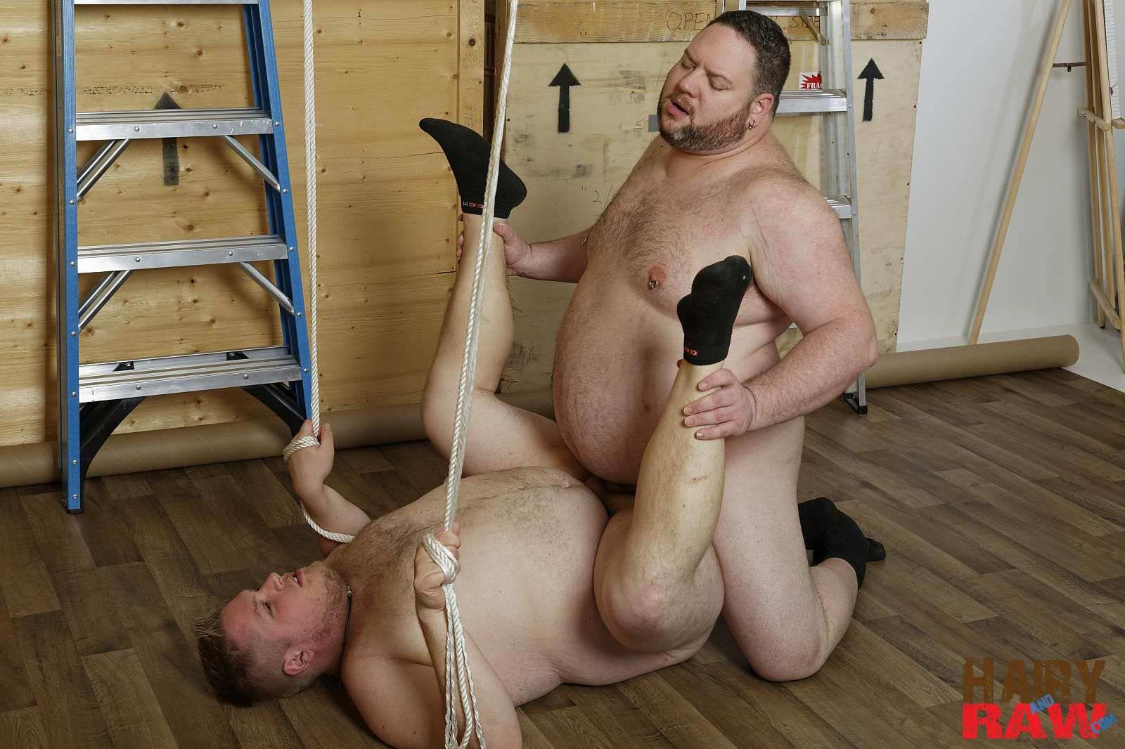 Hairy and Raw Bear Waters and Teddy Osborne Big Hairy Chubs Fucking Bareback Amateur Gay Porn 12 Super Chubs Fucking Bareback At The Warehouse