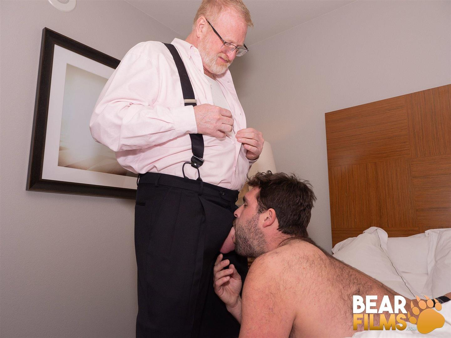 Bear-Films-Rusty-McMann-and-John-Pucker-Daddy-Bareback-Fucking-Younger-Cub-Video-01 Ginger Daddy Bareback Fucking A Hairy Chubby Cub